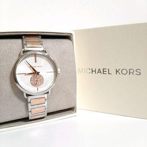 NWT MK Portia Two-Tone Watch